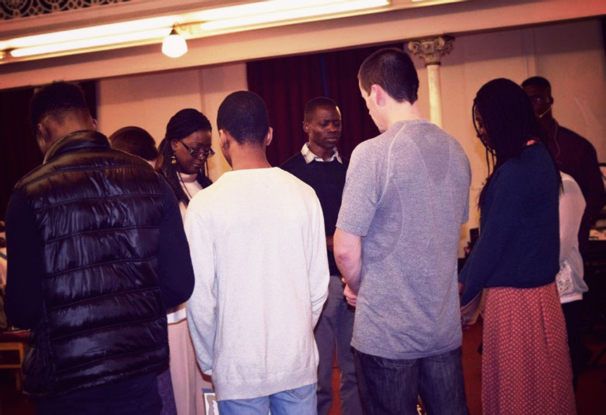 Prayer at South Street Baptist Church