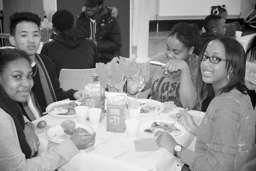 Students at South Street Baptist Church